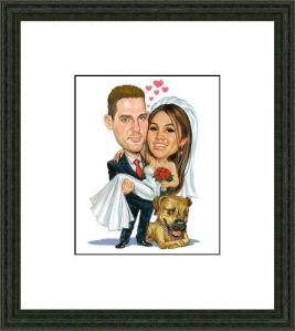 wedding sign in board example