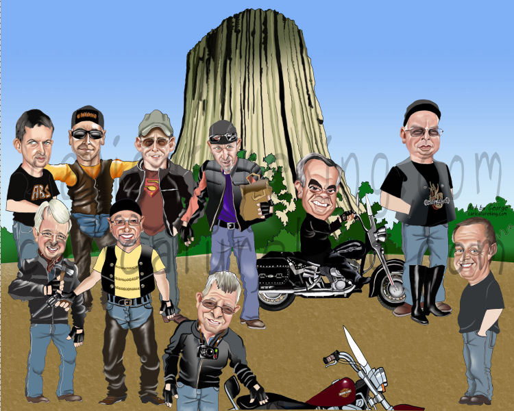 group caricature work