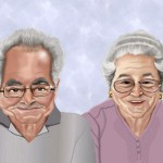 50th wedding anniversary caricature gift