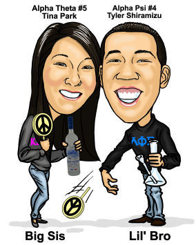 siblings caricature