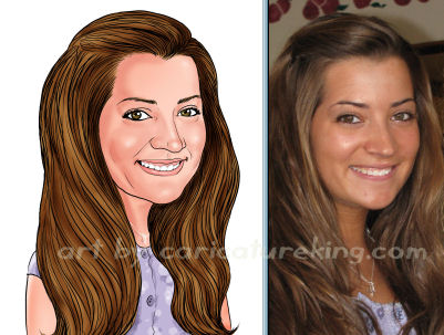 girl caricature art gift