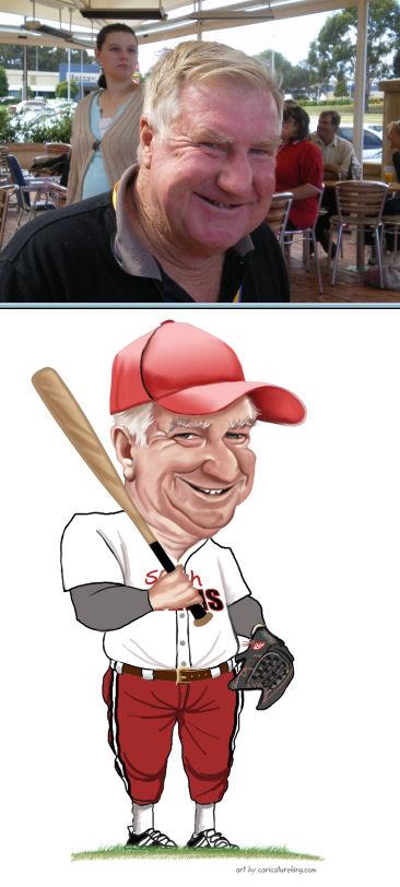 baseballer caricature