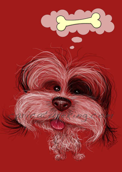 pet dog caricature