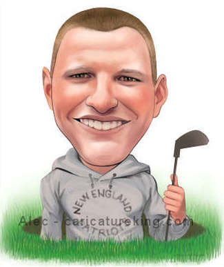 custom art golfer gift idea