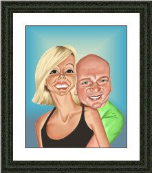 framed valentines caricature