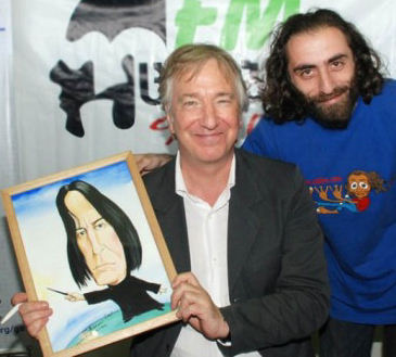 professor snape actor image picture caricature