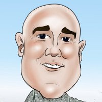 Sample of digital caricature artist Eddie