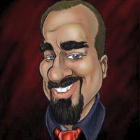Sample of digital caricature artist Eddie