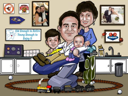 SMALL FAMILY CARICATURE