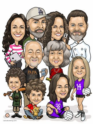 extended-family-caricature
