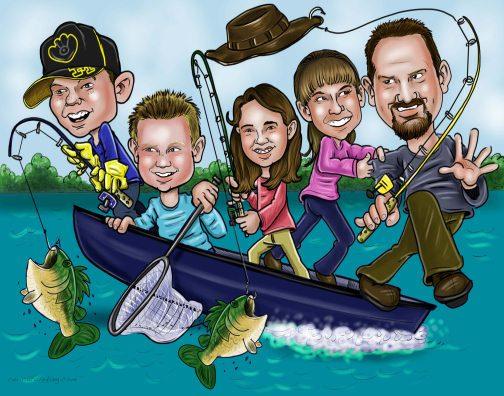 fishingfamilyart