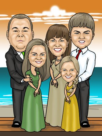 formal-family-caricature