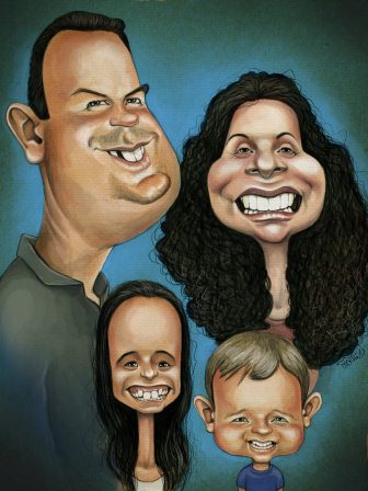 https://www.caricatureking.com/happyfamily home artwork caricature