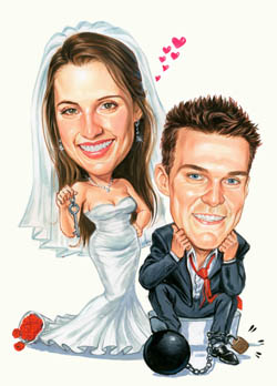 wedding caricature2