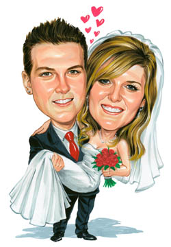 wedding caricature3