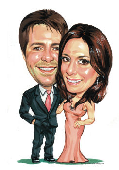 happy couple caricature(21K)