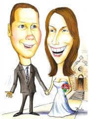 wedding-couple-caricature